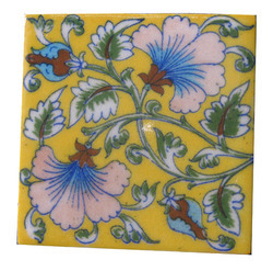 blue pottery vintage tiles