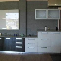 Modular Kitchen - Modular Kitchens, 2 Tone High Gloss Modular