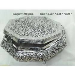 White Metal Silver Jewellery Box Silver Plated Jewellery Box