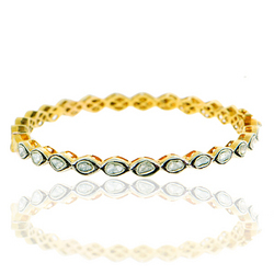 Rose Cut Diamond Sleek Bangles