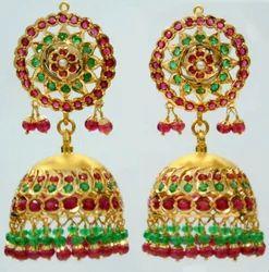 Designer+Golden+Jhumka