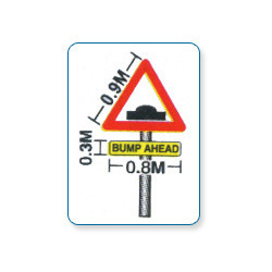 Bump Ahead Sign Board