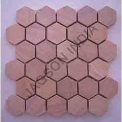 Rainbow Sandstone Mosaic Tile