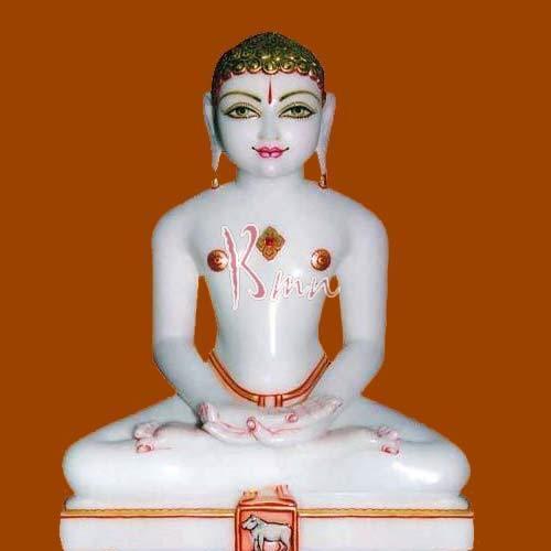 Marble Jain Mahavir Statue