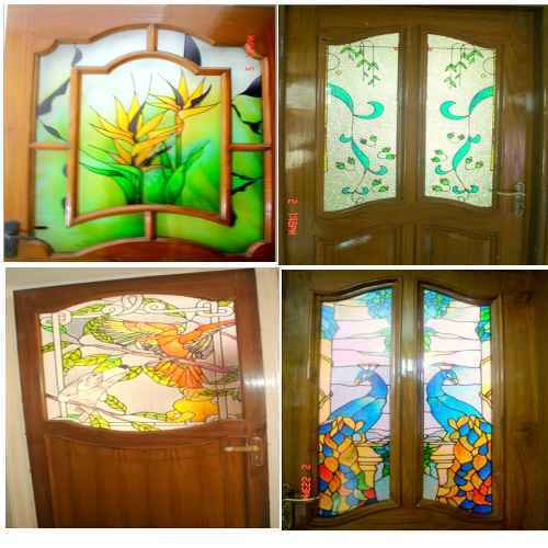 Stained Glass Doors Flower Stained Glass Doors Manufacturer From Delhi