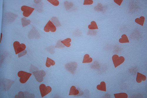 Heart Printed Tissue Papers