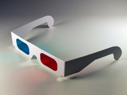 Disposable Paper Red Cyan 3D Glasses