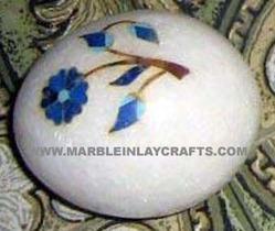 Marble Paper Weight Egg Shape
