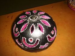 Diwali Diya, Cutting Ball,  Black