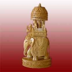 Elephant Wooden Statues