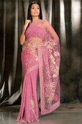 Net Pallu Saree