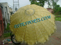 Heavy Embroidered Golden Umbrella