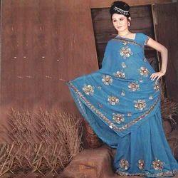 Designer Crepe Saree