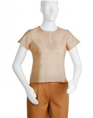 Lucknowi Silk Short Top