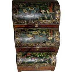 Embossed Painted Box Set of 3