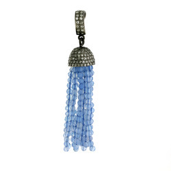 Gold Diamond Tassel Pendants