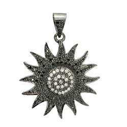 Diamond Sunflower Pendants