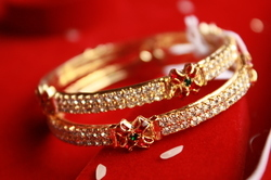 Gold Plated Medium Bangles