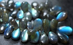 27-14mm 10 Inches -- Blue Fire Labradorite Faceted Pear
