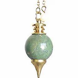 Aventurine Brass Pendulum