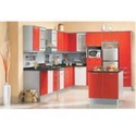 Orange Modular Kitchen Furniture
