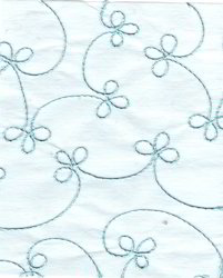 Baby Blue Handmade Paper with Embroidery