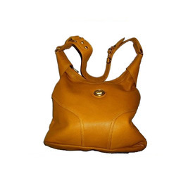 Yellow Color Leather Bag