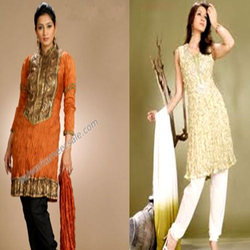 Crushed Cotton Salwar Suits