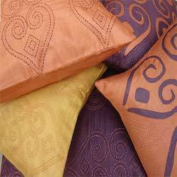 Moroccan Mystic Applique and Embroidered Cushion Covers