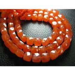 Super Special - Carnelian Faceted 3D Cube Briolettes