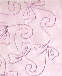Baby Pink Rayon Cord Embroidered Handmade Paper