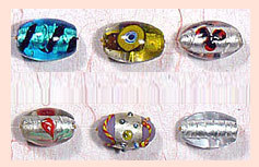 Indian Silver Foil Beads