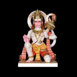 Marble Hanuman Statue Colorful