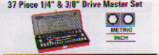 86 Piece 1/4 &1/2 Drive Metric Set