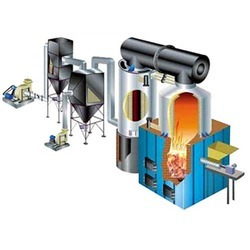 Vertical Four Pass F.B.C Fried Thermic Fluid Heater