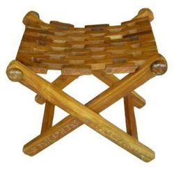 Folding Stool Natural Finish