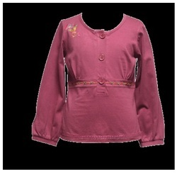 Girl Cotton Jersey Blouse