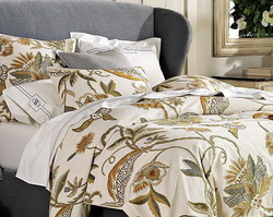 Crewel Bedding Atherton Duvet Cover & Shams Cotton Duck