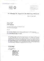 Apreciation Letter from NTPC