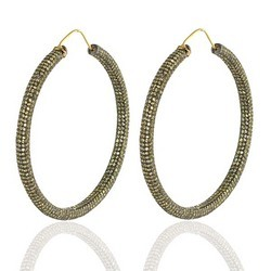Designer Yellow sapphire Hoop Earrings