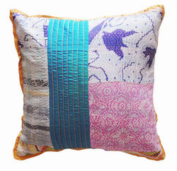 Silk Scarves Kantha Pillow Cover