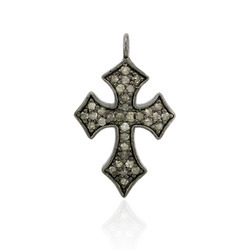 Pave Diamond Designer Cross Pendant