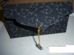 Silk Screen Printed Handmade Paper Envelopes With String Tie
