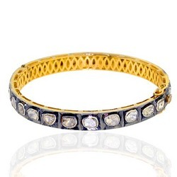 Rose Cut Diamond Bangle Jewellery