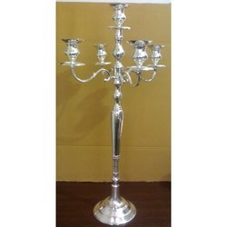 Silver 5 Light Candelabra Centerpiece