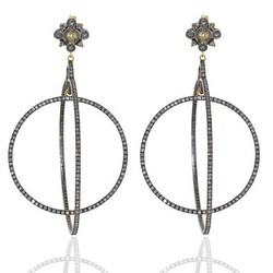 Double Hoop diamond earrings