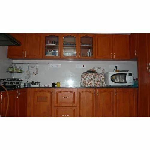 Rubber Wood Modular Kitchen