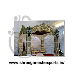 Ganesha Wooden Mandap Pillars (Product Code No :-MSP - 0101)