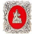 lord shiva - white metal god frame