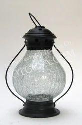 Candle Lantern Iron Cracle Glass